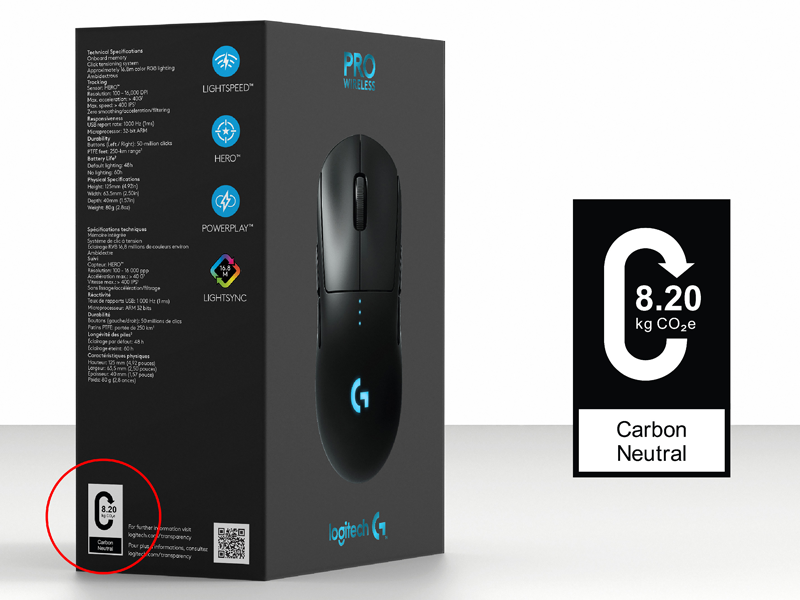 Logitech pledges carbon impact transparency